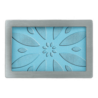 abstract flower belt buckles