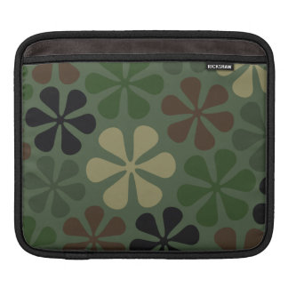 Abstract Flower Camouflage Sleeve For iPads