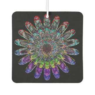 Abstract flower. car air freshener