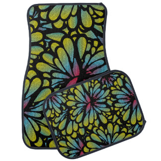 Abstract Flower Car and Truck Mats Car Mat