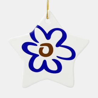 Abstract Flower Ceramic Star Decoration