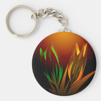 Abstract Flower Colours Of The Tulip Key Ring