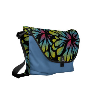 Abstract Flower Commuter Bags