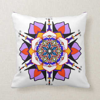 Abstract flower decorative cushion