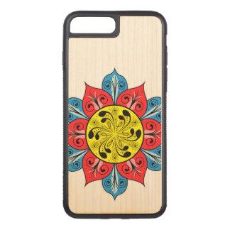 Abstract Flower Design Carved iPhone 8 Plus/7 Plus Case