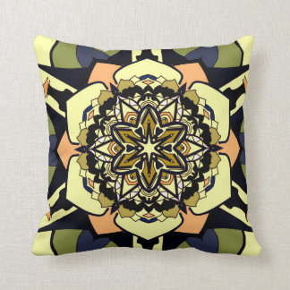 Abstract flower earth colors fun cushion