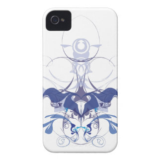 Abstract flower elements iPhone 4 cover