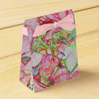 Abstract flower favour box