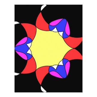 Abstract flower custom flyer