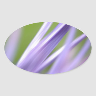 abstract flower, from the flower gift collection oval sticker