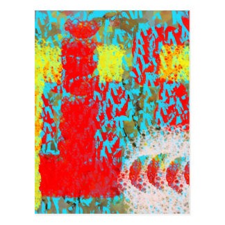 Abstract Flower Garden, Abstract Pattern Postcard