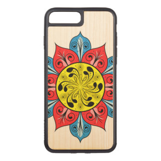 Abstract Flower Illustration Carved iPhone 8 Plus/7 Plus Case