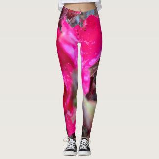 Abstract flower leggings
