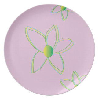 Abstract Flower Liliac Plate