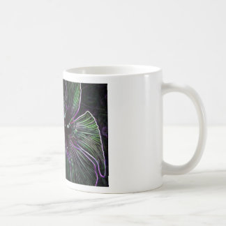 Abstract Flower Mug