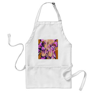 Abstract Flower on Pink, Gold, Blue by Lin Masters Standard Apron