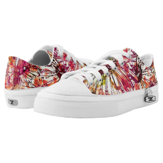 Abstract flower paintings Zipz Low Top Shoes