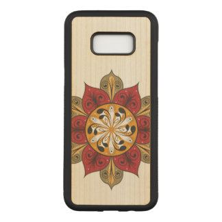 Abstract Flower Pattern Carved Samsung Galaxy S8+ Case