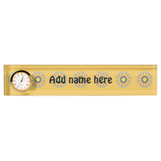 Abstract flower pattern nameplate