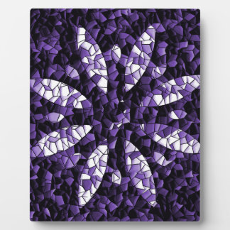 abstract flower plaque