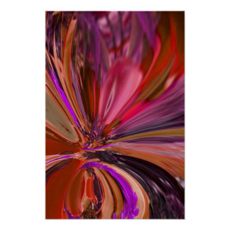 Abstract Flower Posters