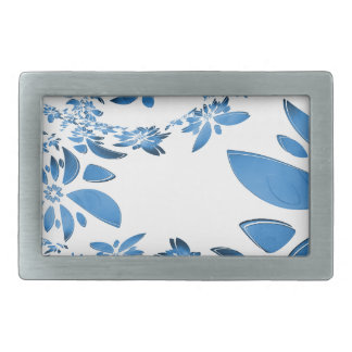 abstract flower rectangular belt buckle