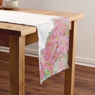 Abstract flower short table runner