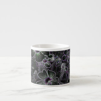 Abstract Flower Espresso Cups