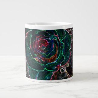 Abstract Flower Jumbo Mugs