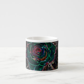 Abstract Flower Espresso Cup