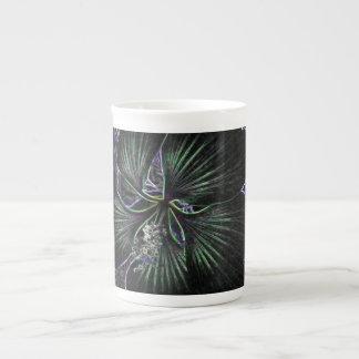 Abstract Flower Porcelain Mugs