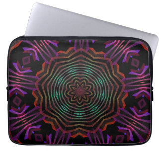 Abstract flower spin  laptop sleeve