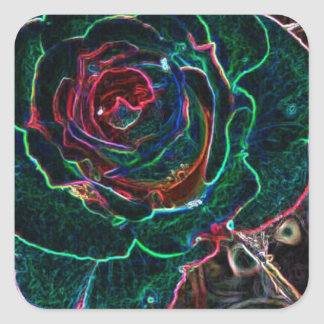 Abstract Flower Square Sticker