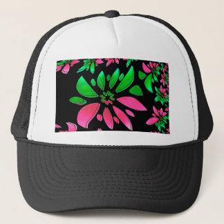 abstract flower trucker hat