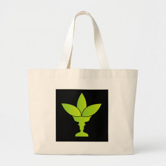 Abstract flower vase with illusion of two faces tote bag