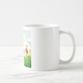Abstract Flower Windy Fields Mug