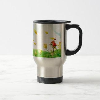 Abstract Flower Windy Fields Coffee Mugs