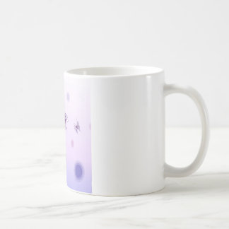 Abstract Flowers Blue Butterfly Coffee Mug