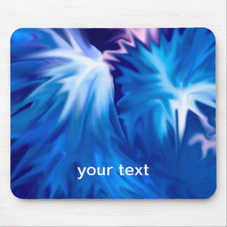 abstract flowers blue mouse pad