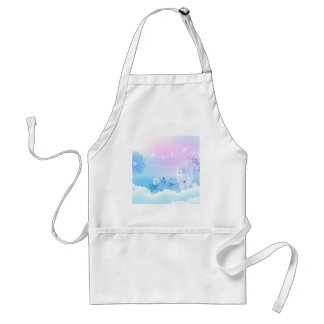 Abstract Flowers Blue Sky Aprons