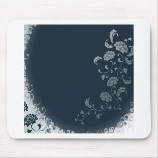 Abstract Flowers Blue Sun Mousepad