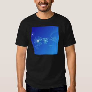 Abstract Flowers Blue Whirl Shirt