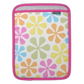 Abstract Flowers Bright Color Mix iPad Sleeve