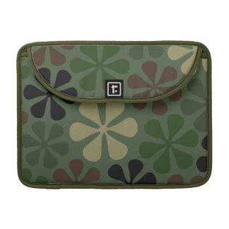 Abstract Flowers Camouflage Sleeve For MacBook Pro