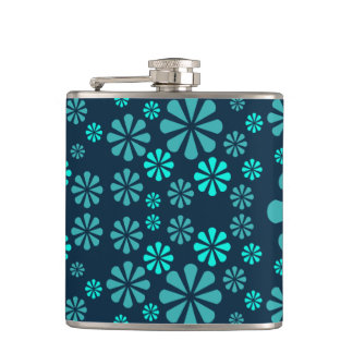 Abstract Flowers flask