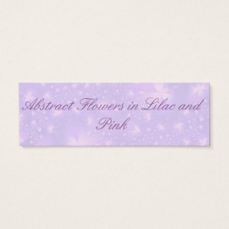 Abstract Flowers in Lilac and Pink Card