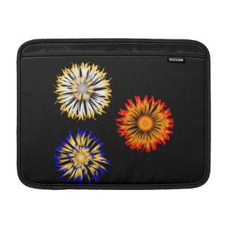 Abstract Flowers MacBook Sleeves