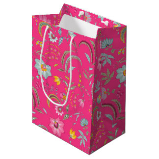 Abstract flowers medium gift bag