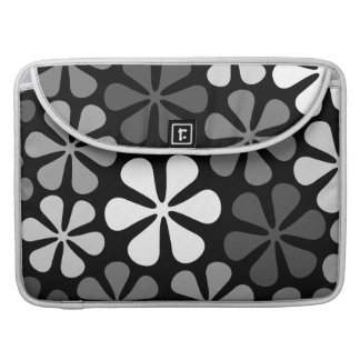 Abstract Flowers Monochrome Sleeve For MacBook Pro