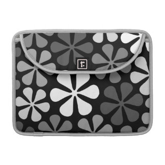 Abstract Flowers Monochrome Sleeve For MacBooks
